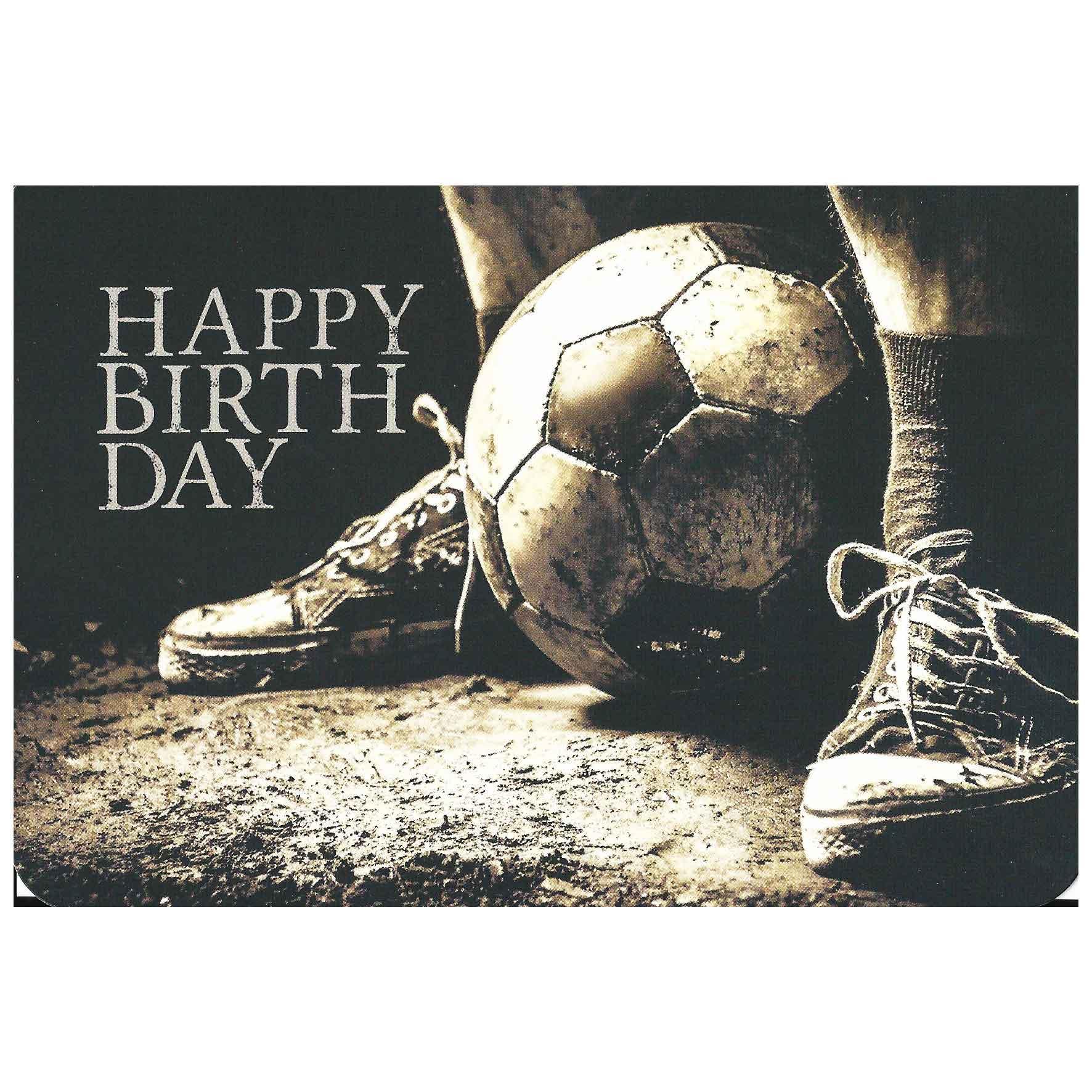 Postkaart Verjaardag Voetbal Alternote